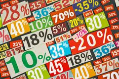 Numbers and percentages Royalty Free Stock Photography