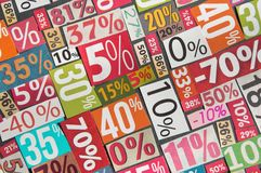 Numbers and percentages Stock Images