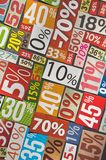 Numbers and percentages Stock Photo