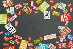 Numbers and percentages Stock Image