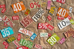 Numbers and percentages Royalty Free Stock Image