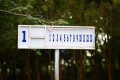 Numbers of Petanque scoreboard Stock Photos