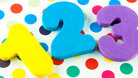 Numbers on polka dots Royalty Free Stock Photography