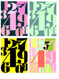 Numbers popart Stock Photography