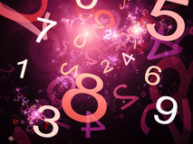 Numbers purple abstract Stock Photography
