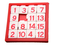 Numbers puzzle Royalty Free Stock Photo