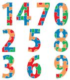Numbers puzzle Stock Photography