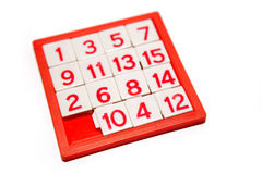 Numbers puzzle Stock Photos