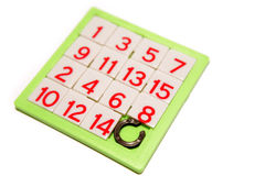 Numbers puzzle Stock Images