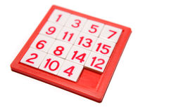 Numbers puzzle Stock Image