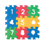 Numbers puzzle pieces Royalty Free Stock Photos