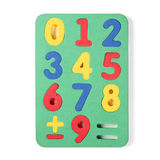 Numbers puzzle pieces Stock Photos