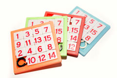 Numbers puzzles. Isolated over white Stock Image