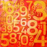 Numbers on red background Royalty Free Stock Photos