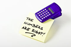 Numbers are Right Royalty Free Stock Images
