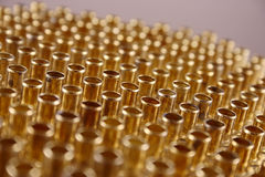 Numbers of rivets shined Stock Photo