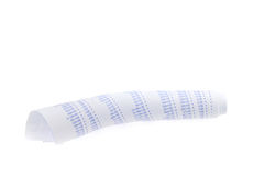 Numbers on Rolled-Up Receipt Royalty Free Stock Photography
