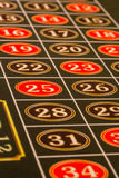 Numbers on Roulette Table Stock Image