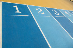 Numbers on running Field Royalty Free Stock Image