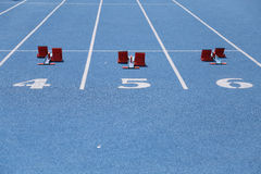 Numbers on running Field Stock Image