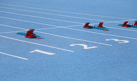 Numbers on running Field Stock Photos