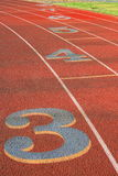 Numbers on Running Lanes Stock Image