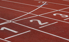 Numbers on running track Stock Image