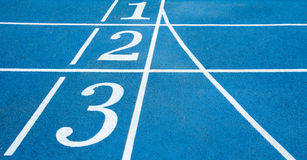 Numbers on running track Royalty Free Stock Photography