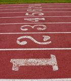 Numbers on a running track royalty free stock images