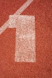Numbers running track rubber cover texture top view royalty free stock images