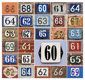 Numbers 60s Royalty Free Stock Photo