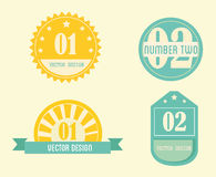 Numbers seals Royalty Free Stock Photos