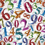 Numbers seamless pattern. Royalty Free Stock Photography