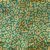 Numbers. Seamless pattern. Stock Photos