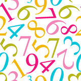 Numbers Seamless Pattern Background Vector Royalty Free Stock Images
