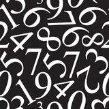 Numbers Seamless Pattern Background Vector Stock Photos
