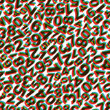 Numbers. Seamless pattern. Vector illustration. Can be used for wallpaper, web page background, web banners Stock Images