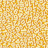Numbers. Seamless pattern. Vector illustration Royalty Free Stock Photo