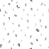 Numbers (seamless vector) Royalty Free Stock Images