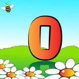 Numbers serie for kids - #00. Animals and numbers series for kids, from 0 to 9 - 0 nobody Royalty Free Stock Photo