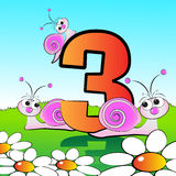 Numbers serie for kids - #03 Stock Photo
