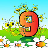 Numbers serie for kids - #09 Royalty Free Stock Photography
