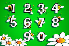 Numbers serie for kids Stock Photos