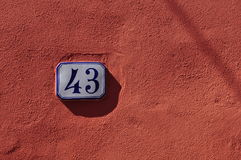 Numbers serie Stock Photography