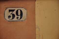 Numbers serie Stock Images