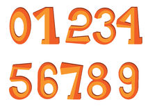 Numbers set Royalty Free Stock Photography