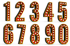 Numbers Set Stock Photography