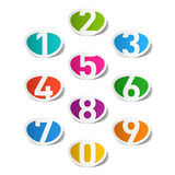 Numbers set. Illustration on white Stock Images