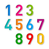 Numbers set. Vector illustration on white Royalty Free Stock Photo