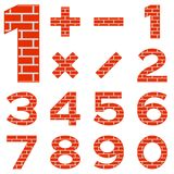 Numbers set brick Stock Photos